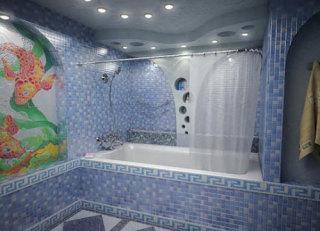 Стены и потолки ванной