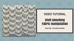Shell smocking tutorial - Fabric manipulation