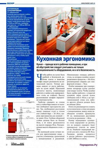 Кухонная эргономика