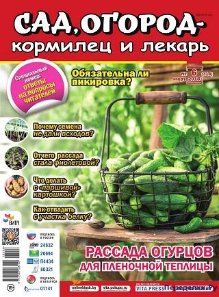 Сад, огород - кормилец и лекарь. №6 март 2018