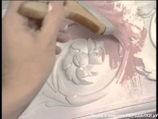 Покраска лепнины