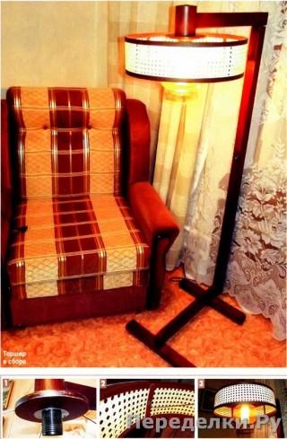 25 Торшер с абажуром из ротангового полотна_cr