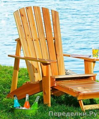 0 Садовое кресло со скамейкой для ног