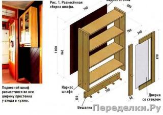 23 Навесной шкаф вместо антресолей