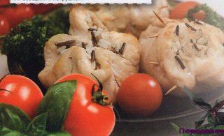 Мешочки из грудки индейки с рисом