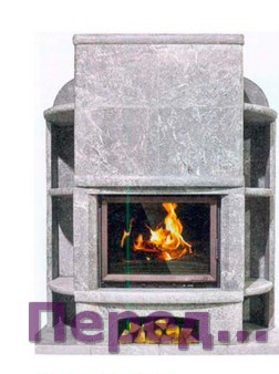 Теплонакопительная печь камин подового горения