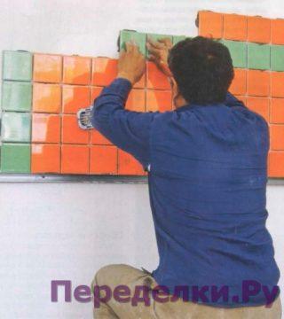 5 способов укладки плитки на стену