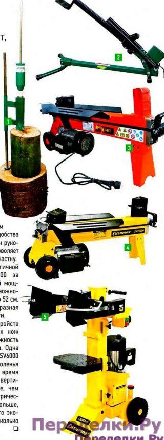 Механические дровоколы - помощник дровосека