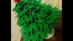 Делаем елочку из гофрированной бумаги! Готовимся к Новому году и рождеству