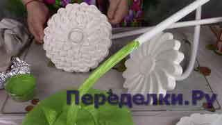 Большие цветы из гипса 2 часть