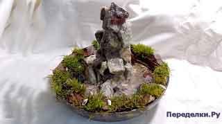 Настольный фонтан или декоративный водопад своими руками