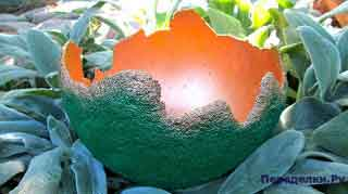 Подсвечник из цемента для сада или для дачи