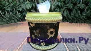 Удобное хранилище пакетов из ведерка от майонеза