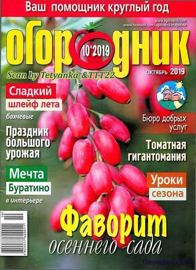 ogorodnik 10 oktyabr 2019